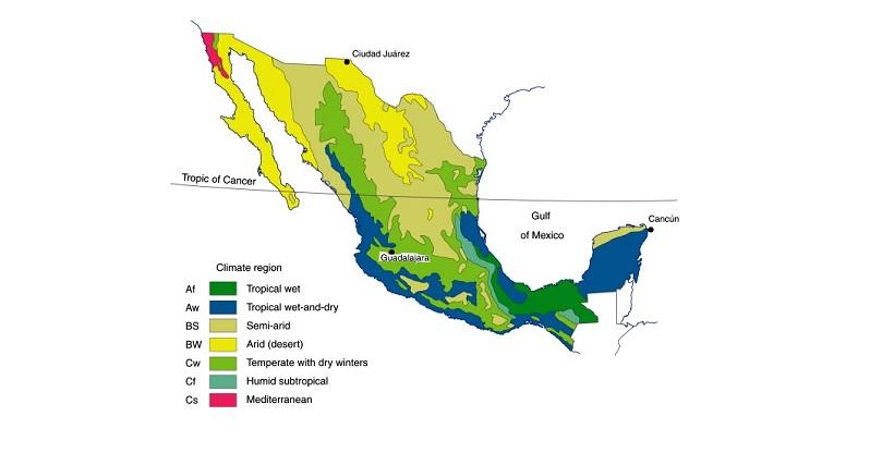 regiones-climaticas-de-Mexico